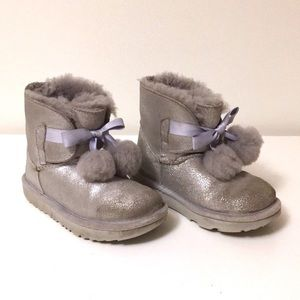 UGG Authentic Silver Boots for Girls sz 13 EUC